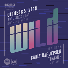 Fall 2018 WILD concert poster