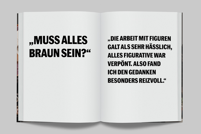 Spread in the German edition, typeset in Marr Sans Cond Bold.
