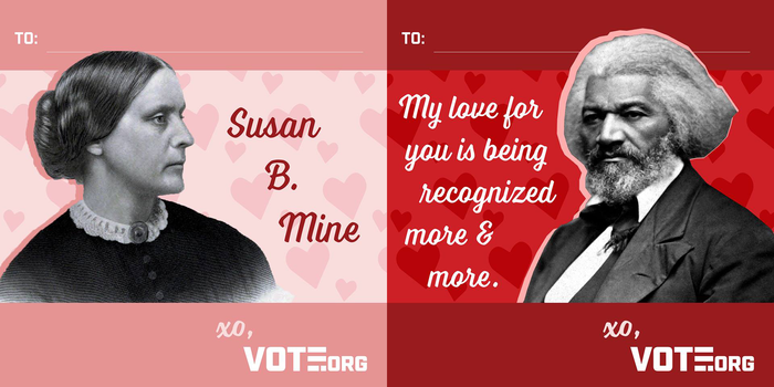 These digital Valentine's day cards use Laura Worthington's Voltage.