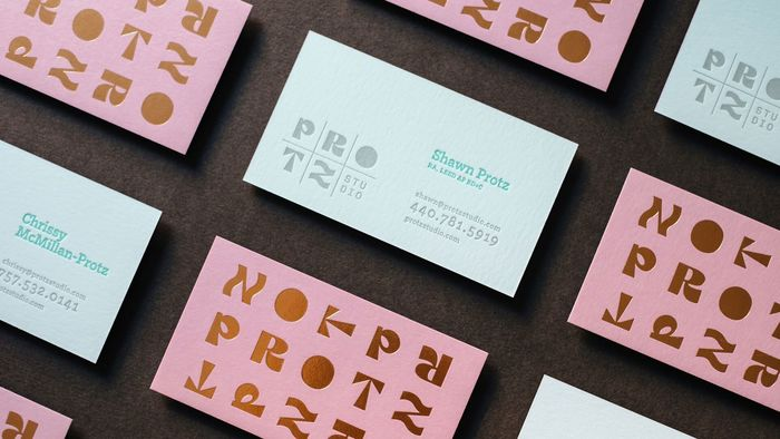 Protz Studio business cards 1