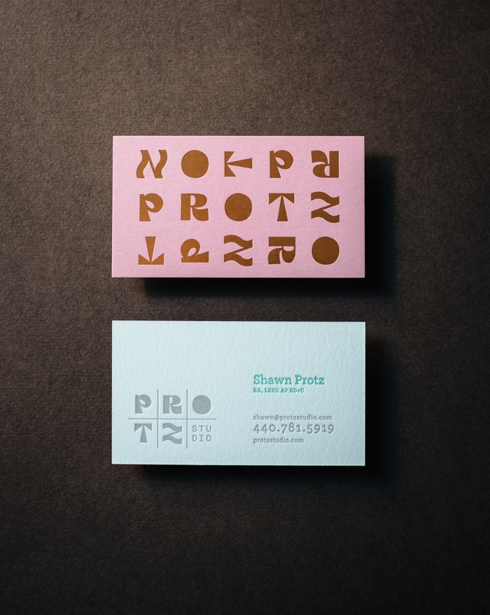 Protz Studio business cards 3