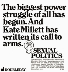 <cite>Sexual Politics</cite> ad