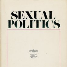 <cite>Sexual Politics</cite> – Kate Millett (Doubleday, Sphere)
