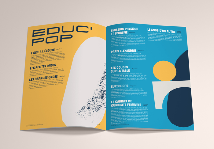 Radio Campus Paris program brochure 2