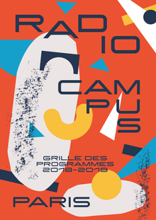 Radio Campus Paris program brochure