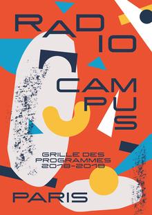 Radio Campus Paris program brochure