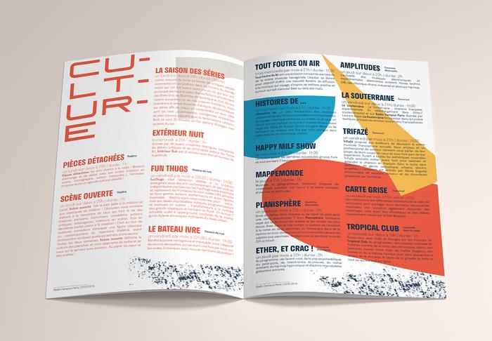 Radio Campus Paris program brochure 5