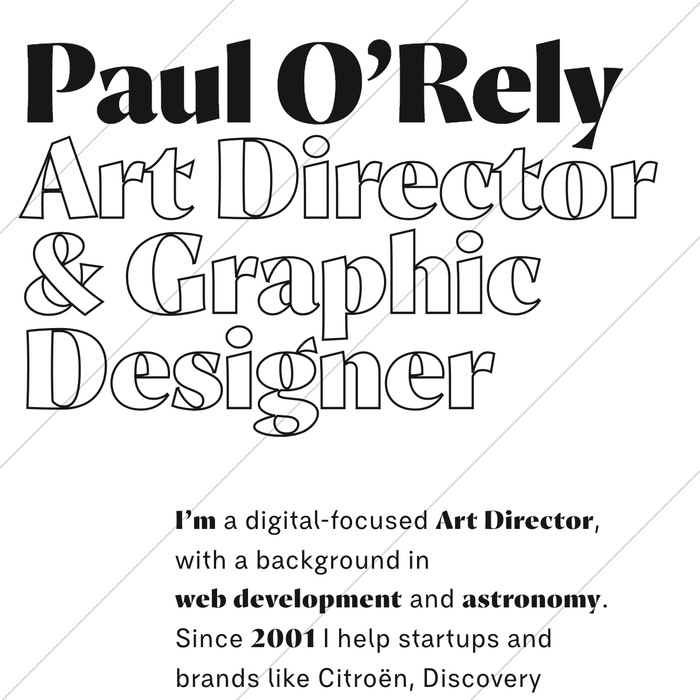 Paul O'Rely portfolio website 1