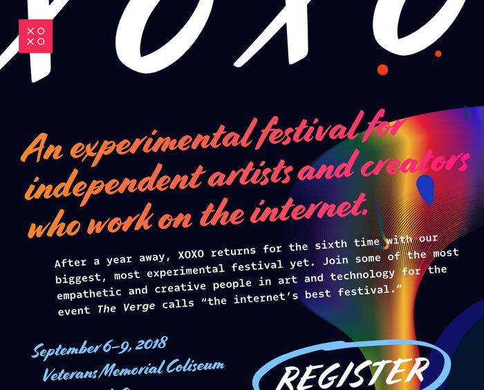 XOXO Fest 2018 landing page 1