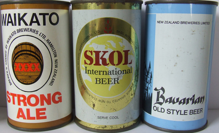 Skol Lager beer coaster and can 2