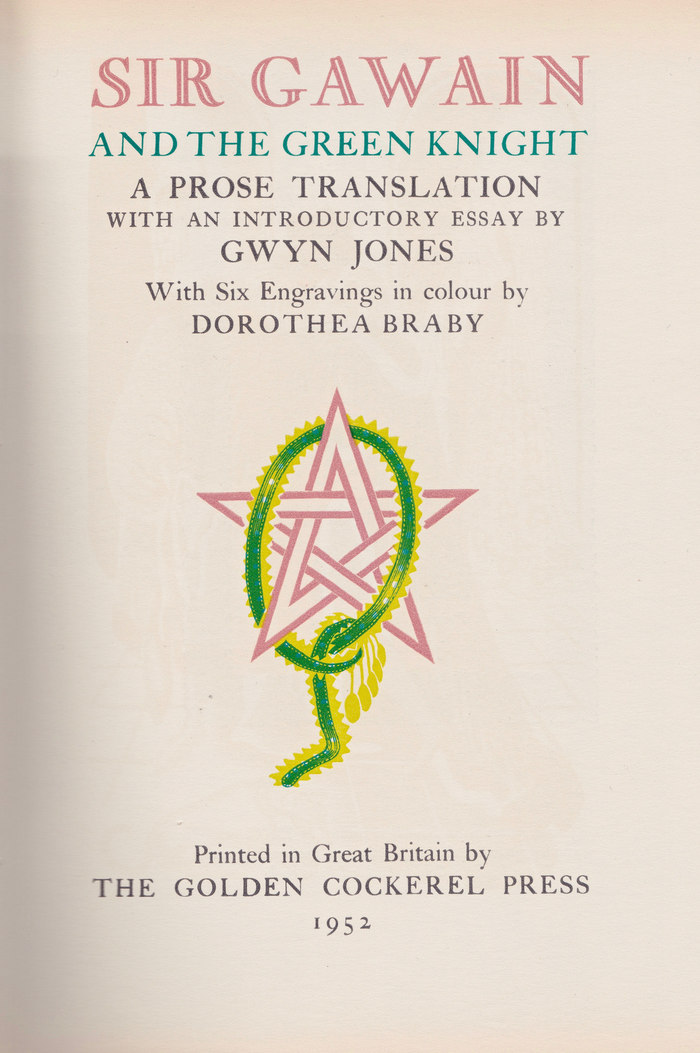Sir Gawain and the Green Knight title page