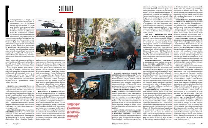 Rolling Stone Italia, issue 10, October 2018, p.84-85