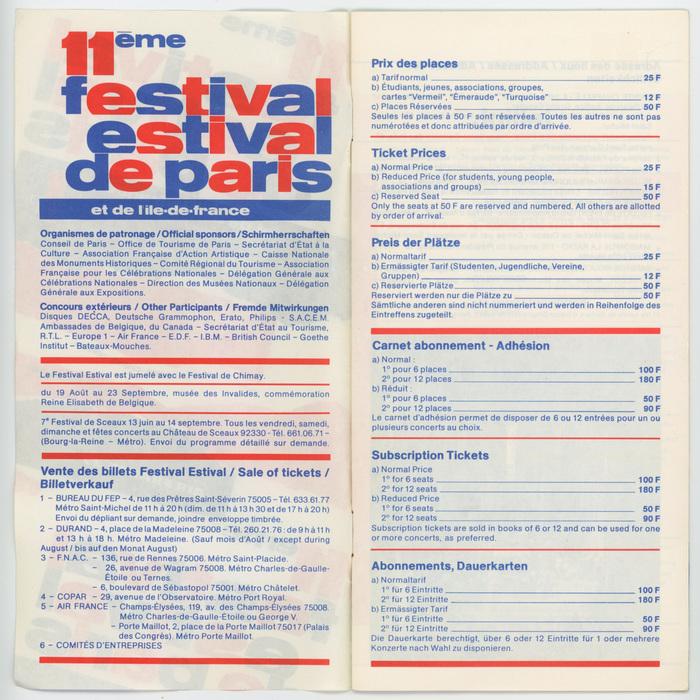11ème Festival Estival de Paris 2