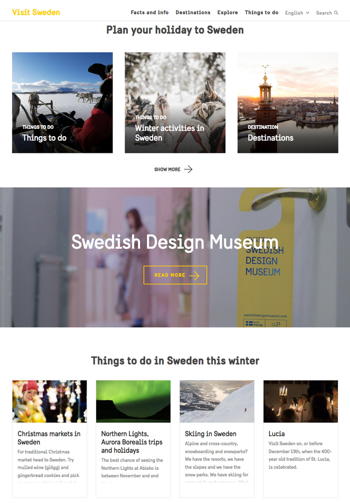 Visit Sweden is a website with travel info.