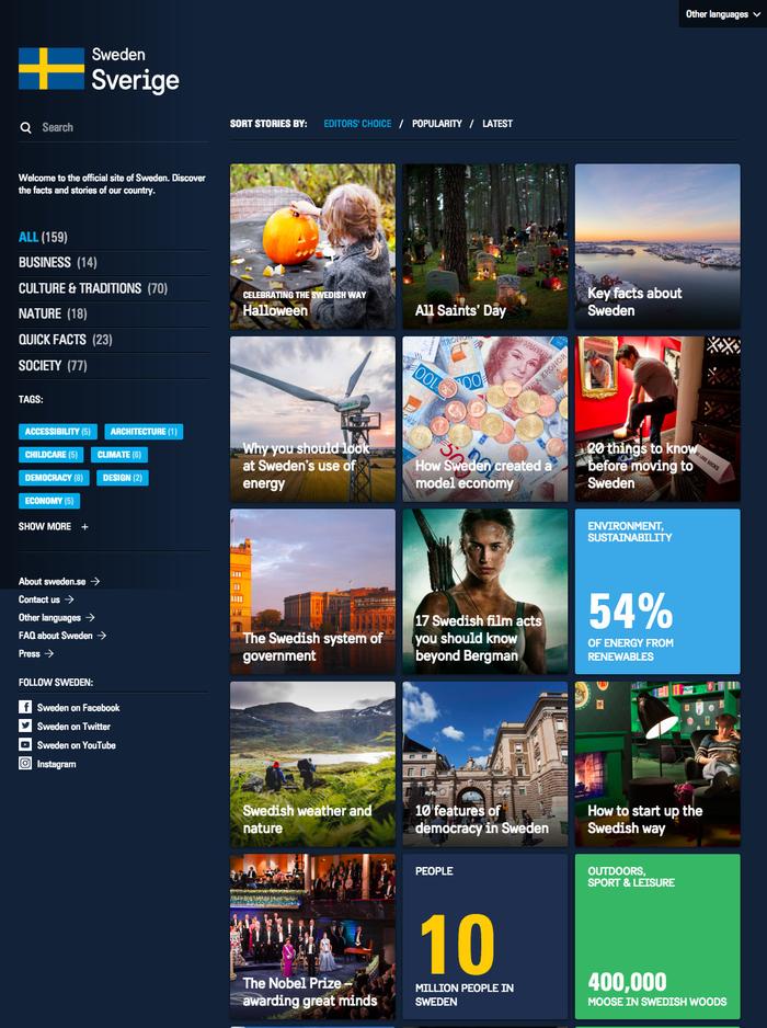 Sweden.se is the official site of Sweden.