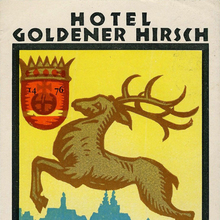 Hotel Goldener Hirsch luggage labels