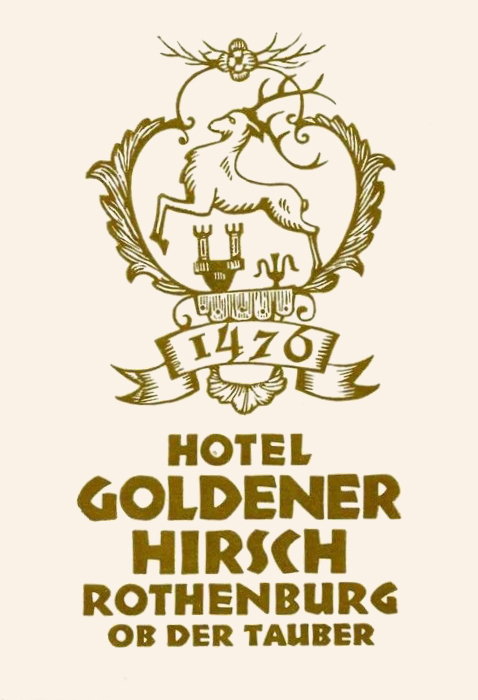 Another undated luggage label for the same hotel, using three sizes of the Neuland series (14, 20, 10pt).