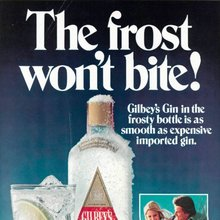 """The frost won't bite!"" – Gilbey's Gin ad"