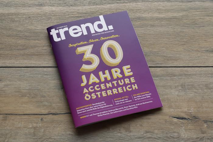 """Trend extra cover, """"30 Jahre Accenture Österreich"""""""