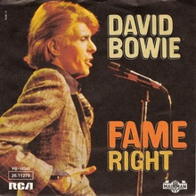 "David Bowie – ""Fame"" / ""Right"""