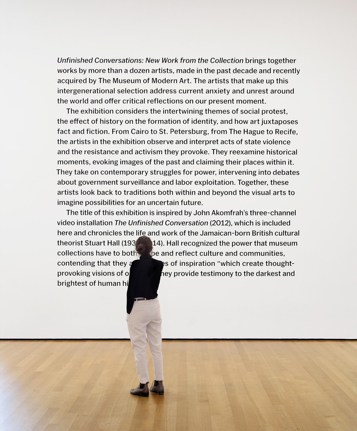 Unfinished Conversations: New Work from the Collection at MoMA 1