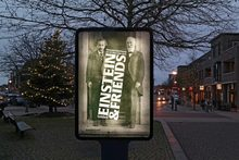<cite>Einstein & Friends</cite> exhibition poster