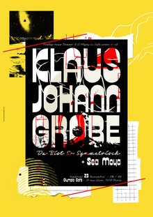Klaus Johann Grobe concert poster