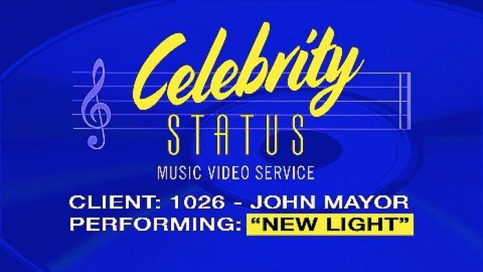 "John Mayer ""New Light"" music video"