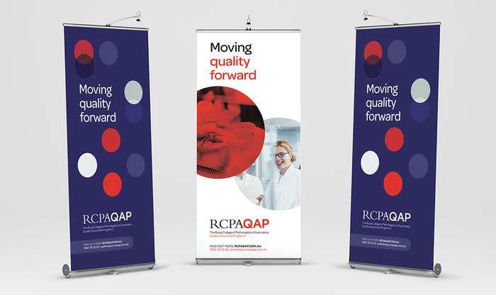 Roll-up banners for conferences and other events.