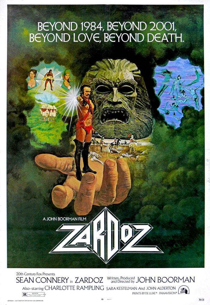 Zardoz (1974) movie poster and trailer 1