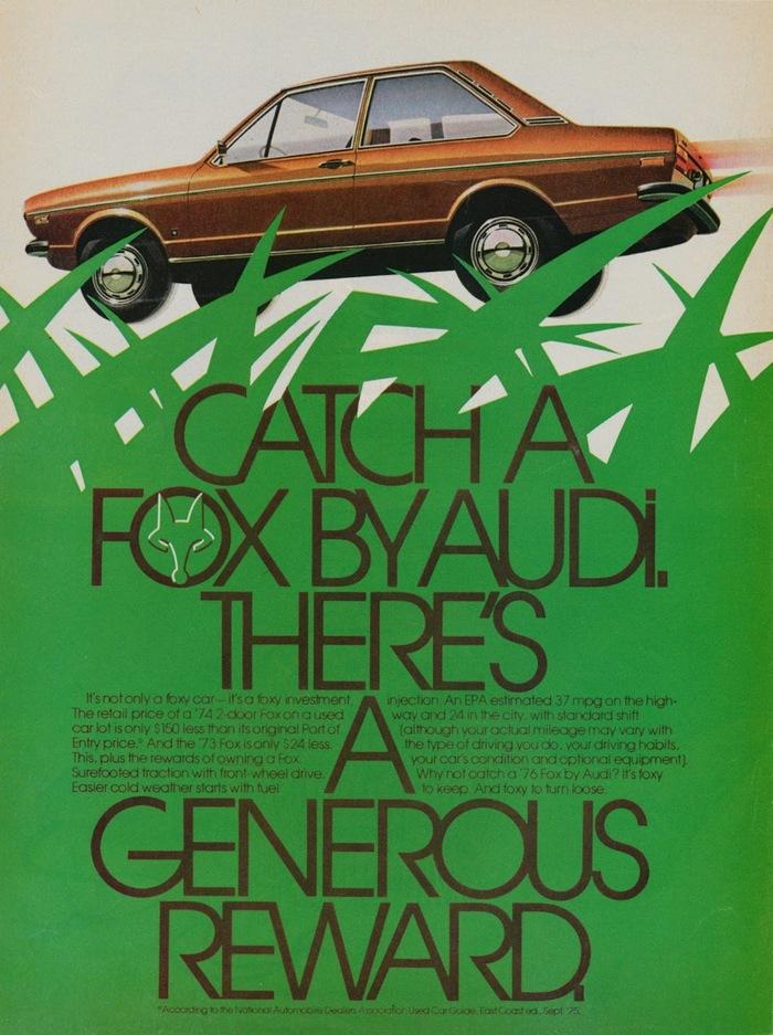 Audi Fox advertisements 1