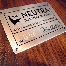 Neutra Boomerang Chair Badge