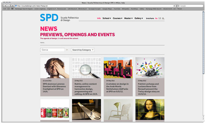 Scuola Politecnica di Design website 1