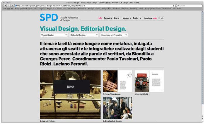 Scuola Politecnica di Design website 3