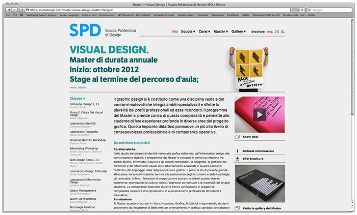 Scuola Politecnica di Design website 4
