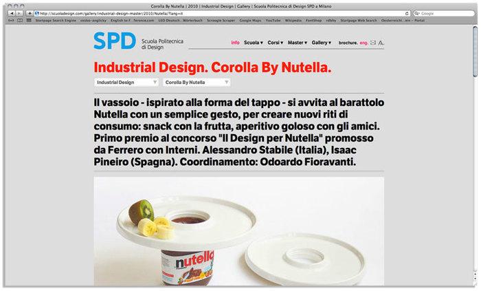 Scuola Politecnica di Design website 5