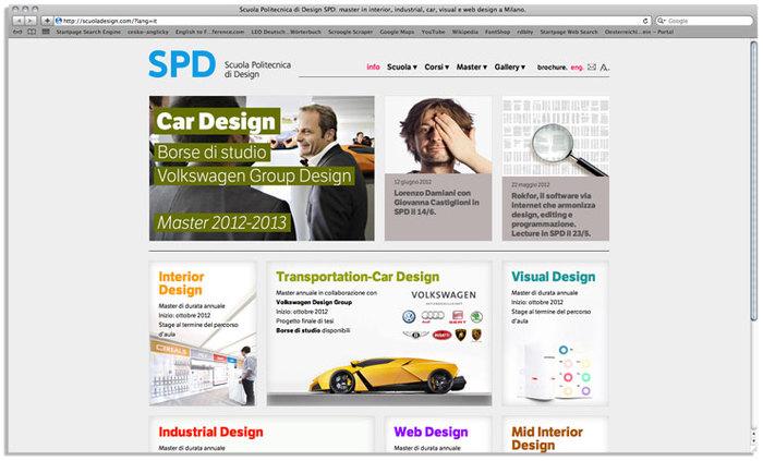 Scuola Politecnica di Design website 6