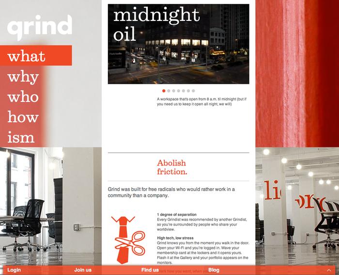 Grind website 2