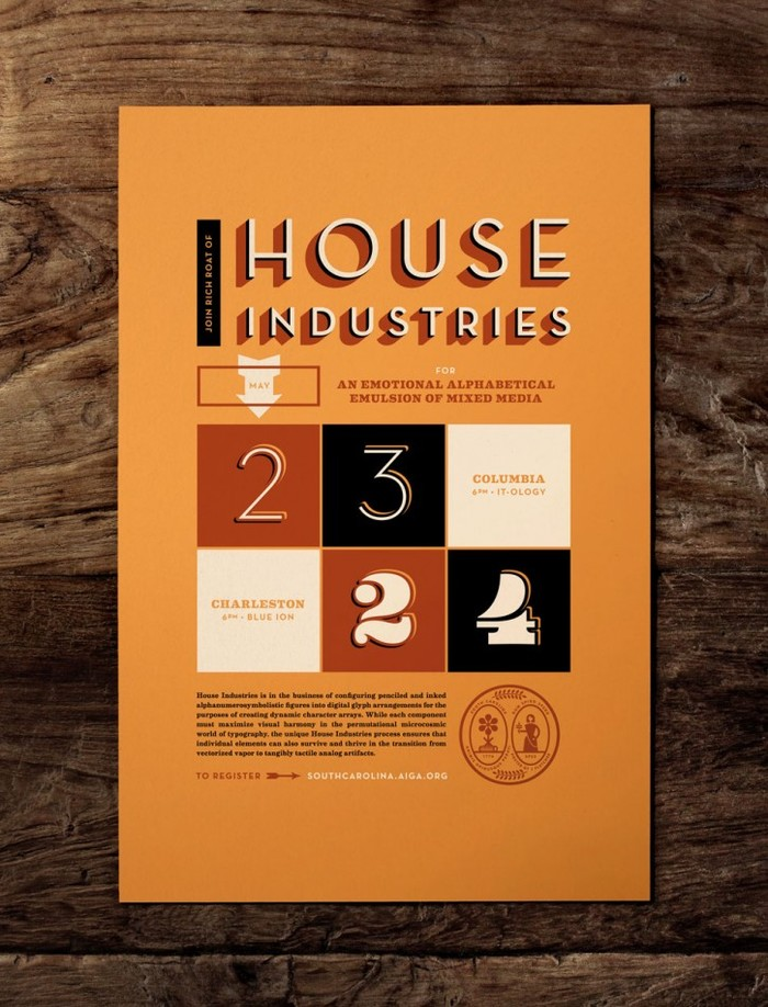 House Industries Lecture at AIGA South Carolina 1