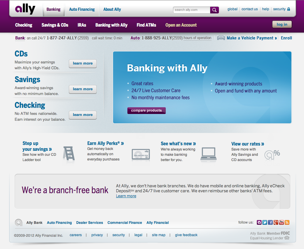 Ally Com Auto >> Ally Bank Website Fonts In Use
