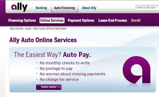 Ally Bank website 3