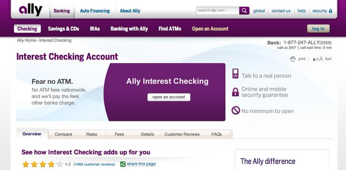 Ally Bank website 4