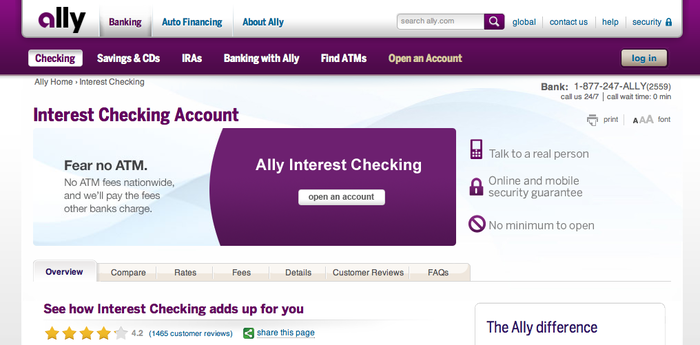 Ally Bank website 4