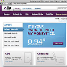 Ally Bank website