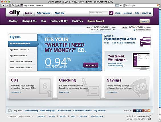 Ally Bank website 5