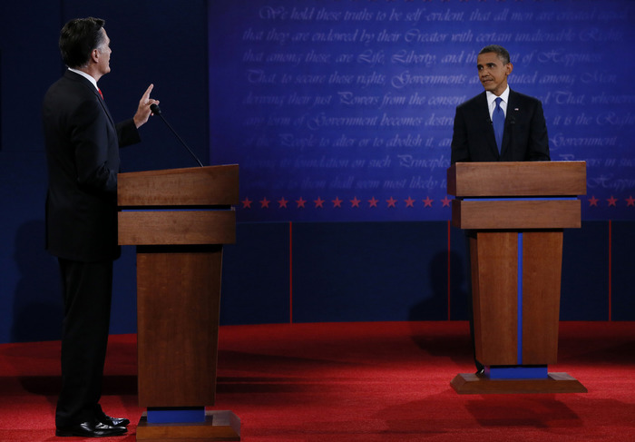 2012 US Presidential Debates backdrop 2