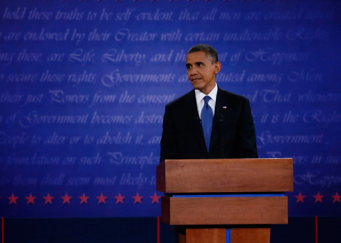 2012 US Presidential Debates backdrop 3
