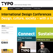 <cite>TYPO</cite> International Design Talks website