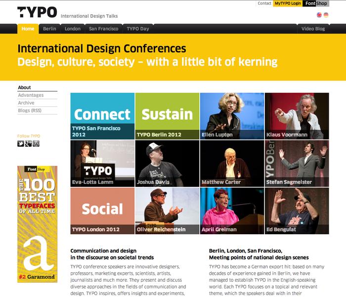 TYPO International Design Talks website 1