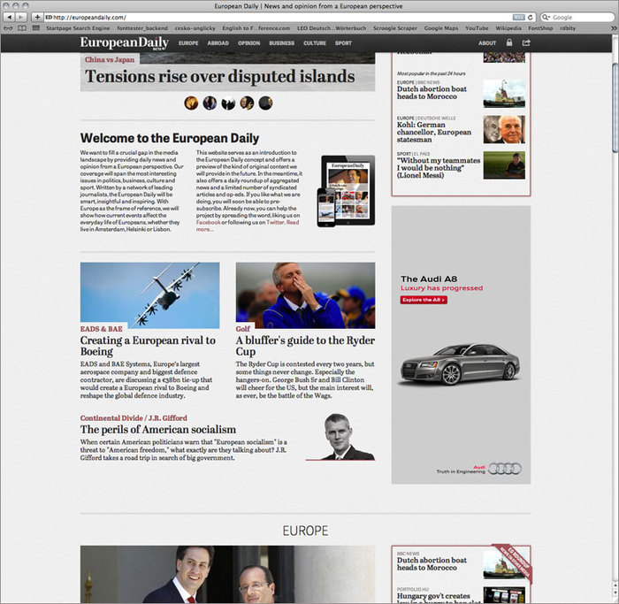 European Daily website 1